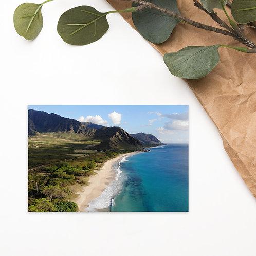 Postcard Hawai'i Beach Mountains