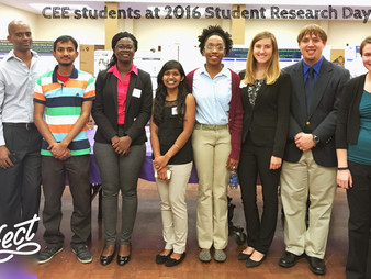 CEE Students shine in 2016 TTU Annual Research Day