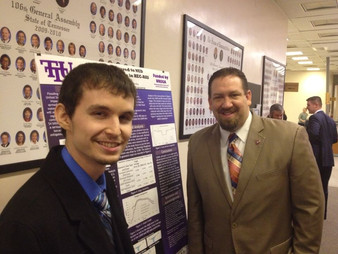 Nowfel and JJ represent TTU at Graduate Education Day on the Hill