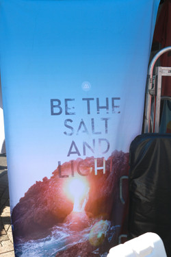 """Be The Salt and the Light"" sign"