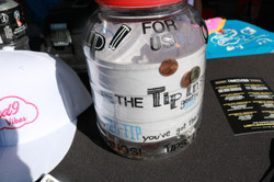 Steal the Day tip jar
