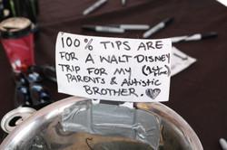 tip jar - walt disney trip