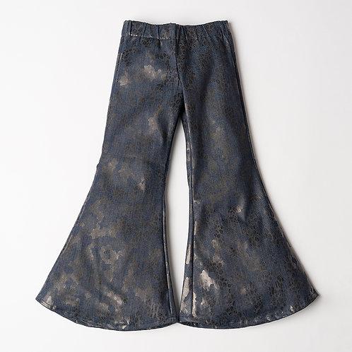 Pantalone Hippie Chic jeans maculato