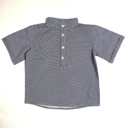 Camicia Otto blu fiorellini