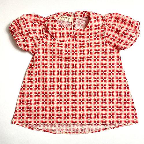 Camicia Bon Ton fiore anni '70 rosa