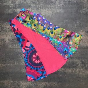 "Pantaloni flare ""Hippie Chic"" in lycra stampata."