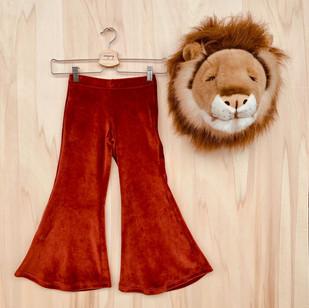 """Pantaloni flare """"Hippie Chic"""" in ciniglia."""