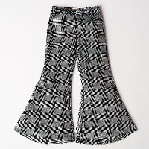 Pantalone Hippie Chic velluto scozzese