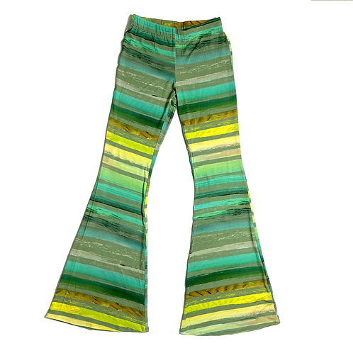 Pantalone Hippie Chic righe verdi