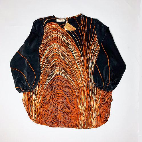 Camicia Etoile seta nera arancione
