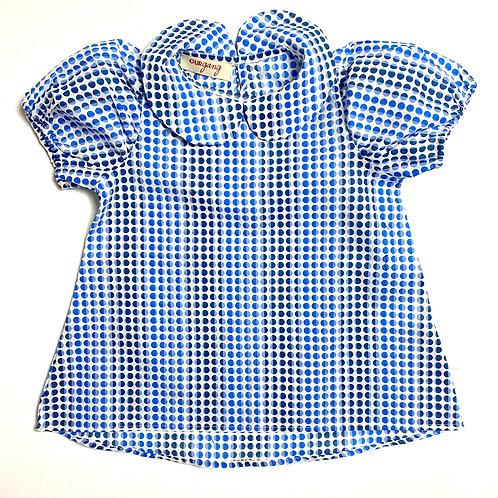 Camicia Bon Ton pois azzurri