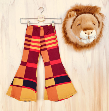 """Pantalone flare """"Hippie Chic"""" in jersey invernale."""
