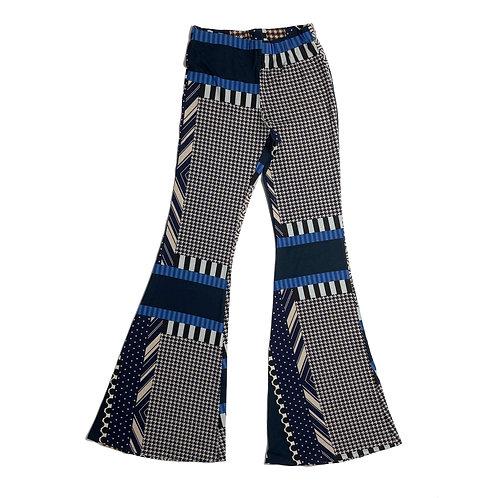 Pantalone Hippie Chic geometrico blu