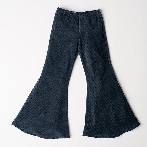 Pantalone Hippie Chic velluto blu