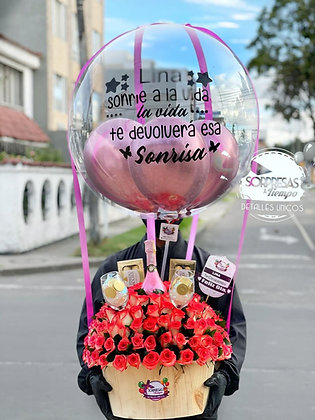 Balloon in Rose