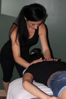 Owner, Bri, working on a model client.