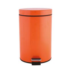 Orange bathroom bin