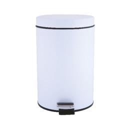 White bathroom bin