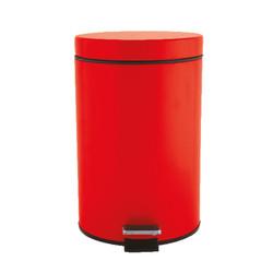 Red bathroom bin