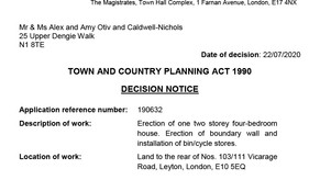 22/07/2020 - Planning approval final issue