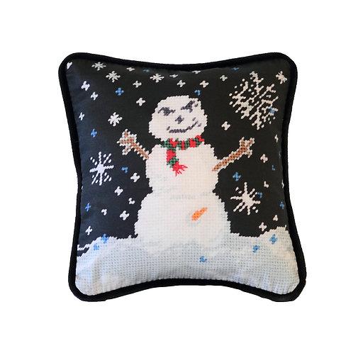 very happy snowman toss pillow