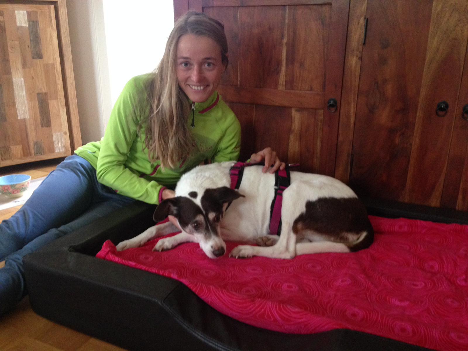 Luise mit ihrer Hundemama