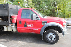 New Hampshire Blacktop Sealers road work truck photographed by Brandon Latham