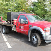 asphalt repair truck at NH Blacktop Sealers office in Auburn New Hampshire photogaphed by Brandon Latham