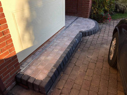 Front doorstep in Charcoal Keyline curbs.