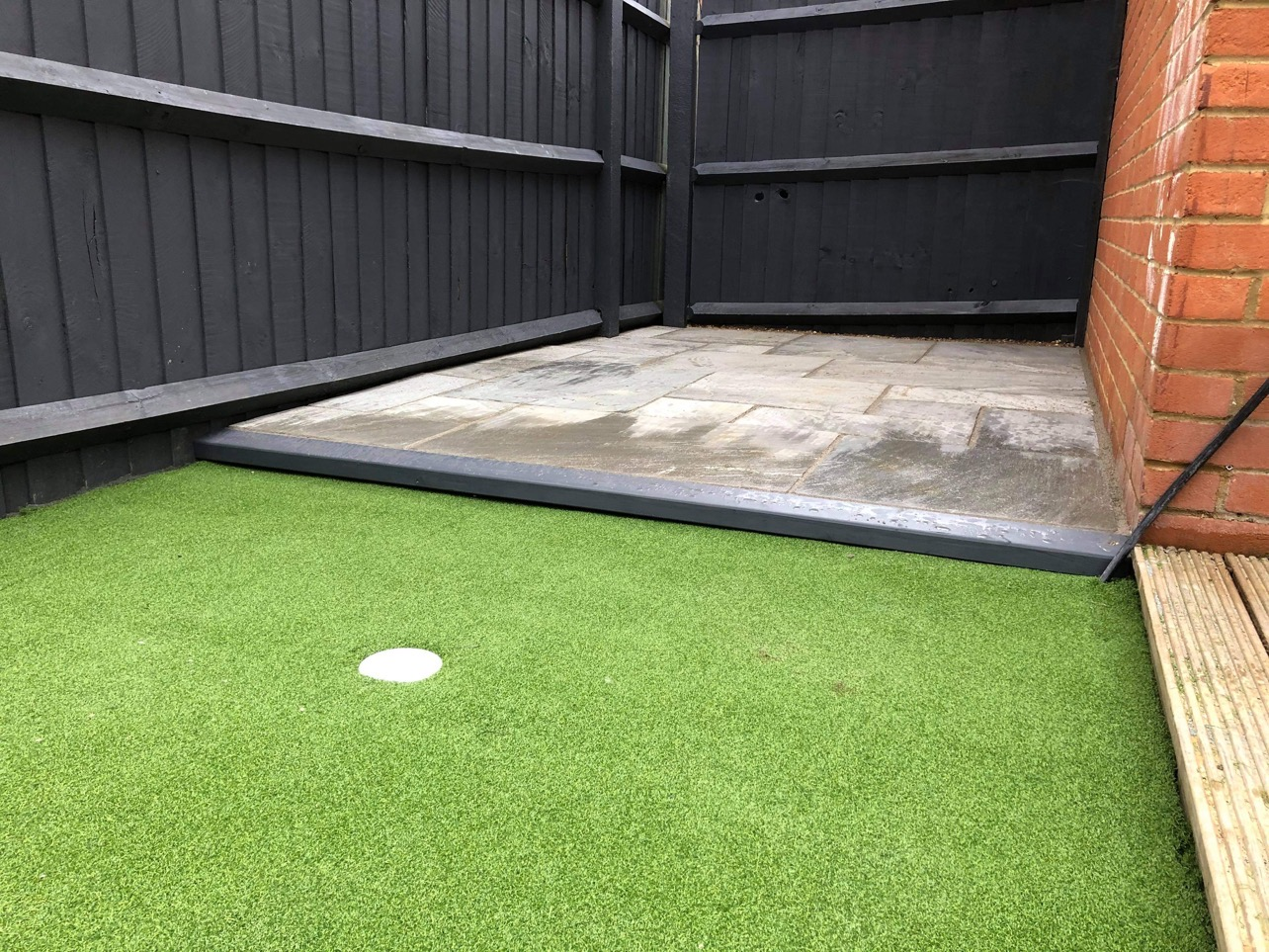 Golfers Grass and Patio