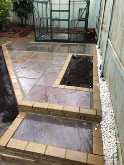 Water feature and Indian Sandstone