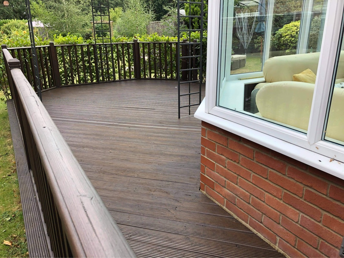 Treating existing patio area.