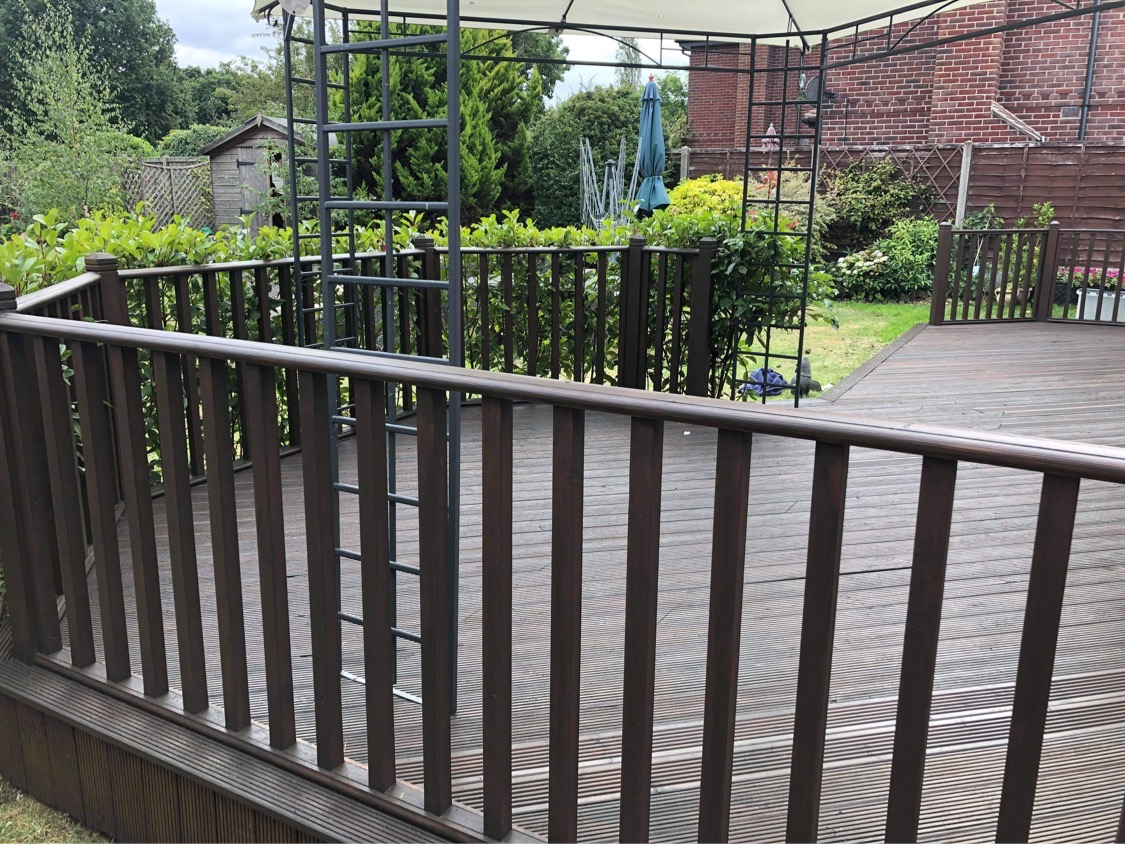 Treating existing decking area