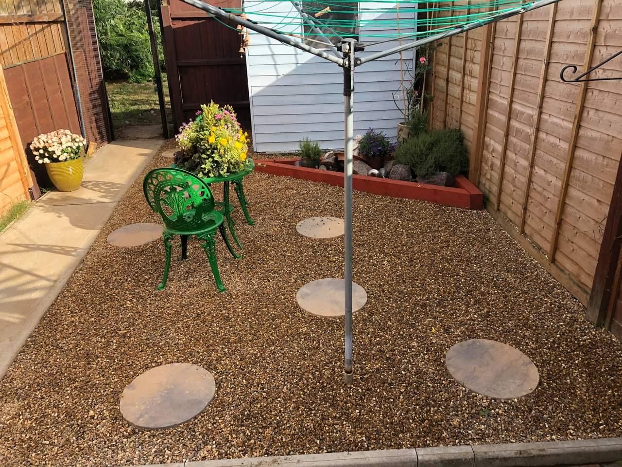 Low maintenance garden.