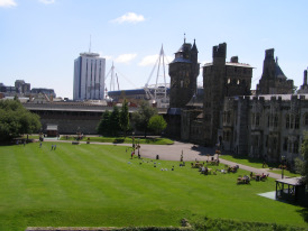 View of Cardiff Centre from Cardiff Castle – John Oyston