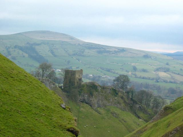 Peveril Castle  Photo George Griffin under a Creative Commons License