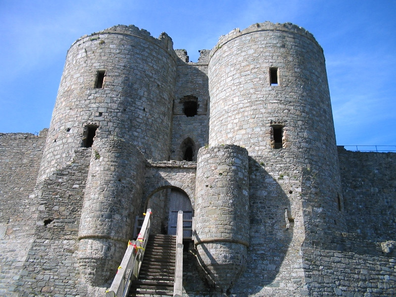 Harlech Castle Photo Gwen Hitchcock under a Creative Commons License