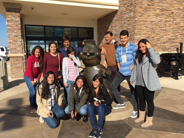 Mexican students and chaperone at Buc-ee's