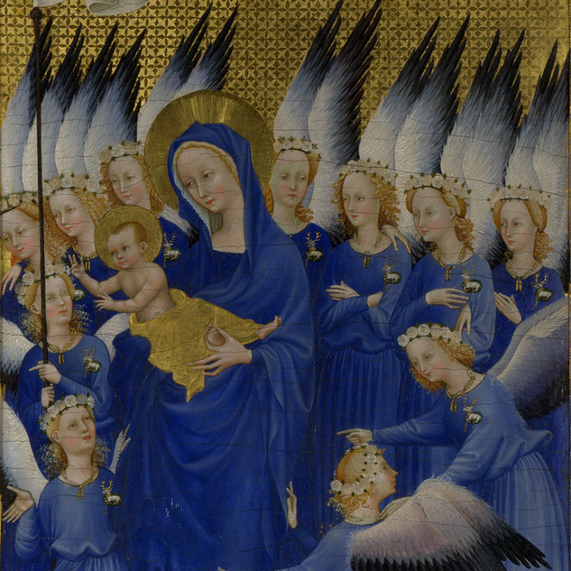 A glorious alleluia in lapis lazuli from the International Gothic.
