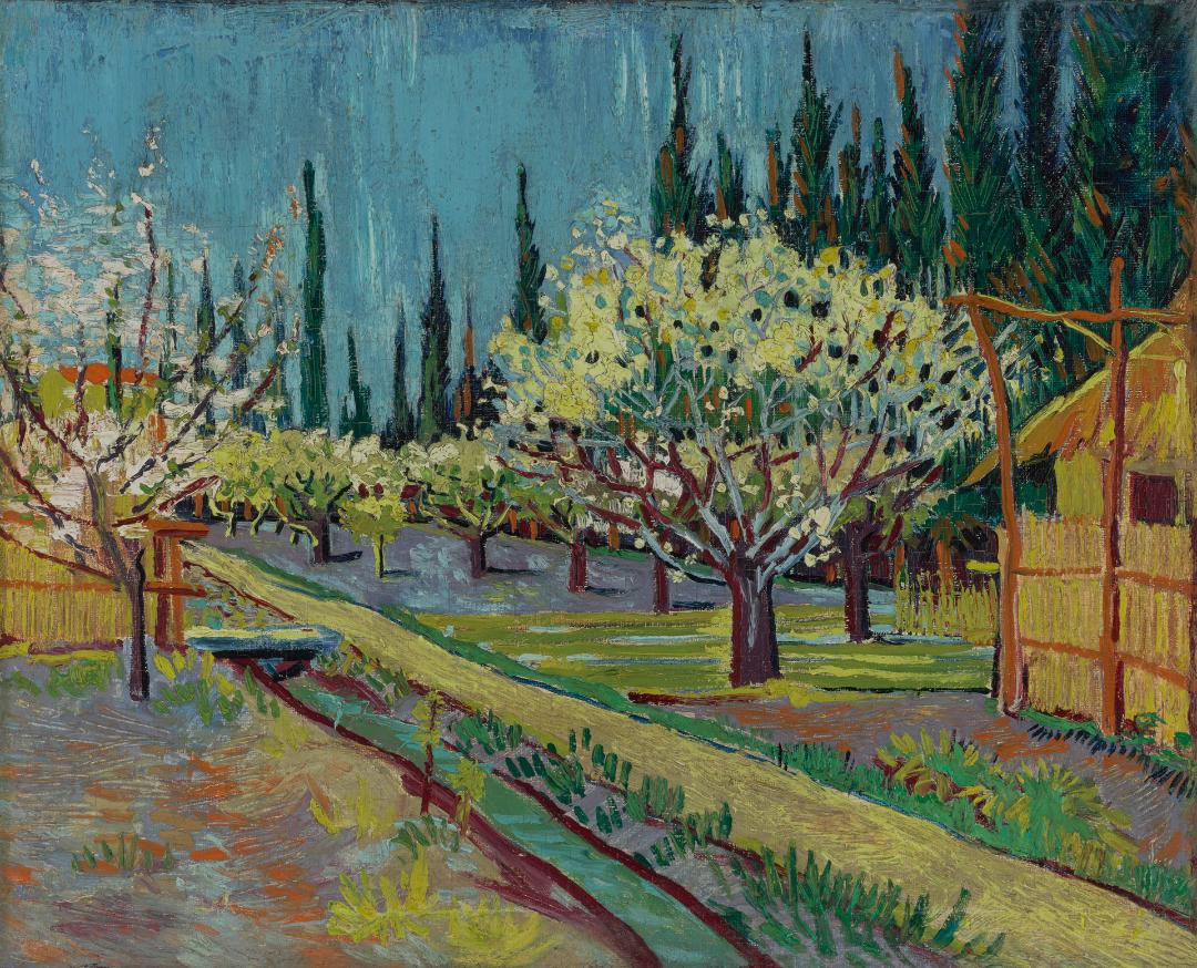 'Orchard Bordered by Cypresses'