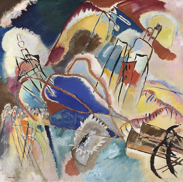 A crescendo of Yuletide colour rhythmically composed by the Russian maestro, the father of Modern Art.