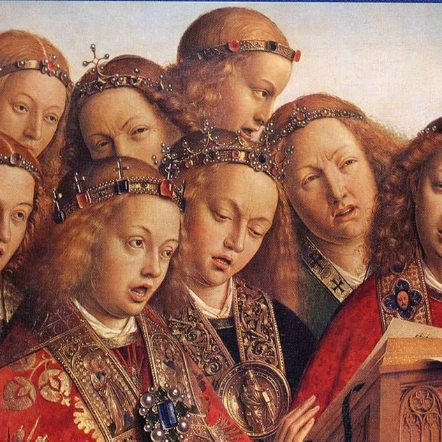 Gloria in Excelsis Deo with the early Renaissance Flemish master.