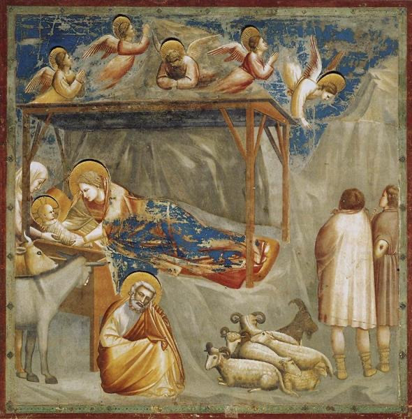 Rejoice! Rejoice! An exaltation in precious gold and heavenly blue by the proto-Renaissance master.