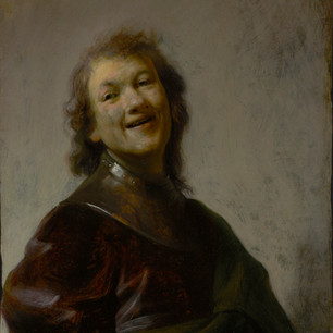 A Christmas chuckle in jovial brushstrokes with the twenty-one year old Dutch Baroque master.