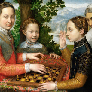 Checkmate. Festive sister rivalry with the Italian Mannerist.