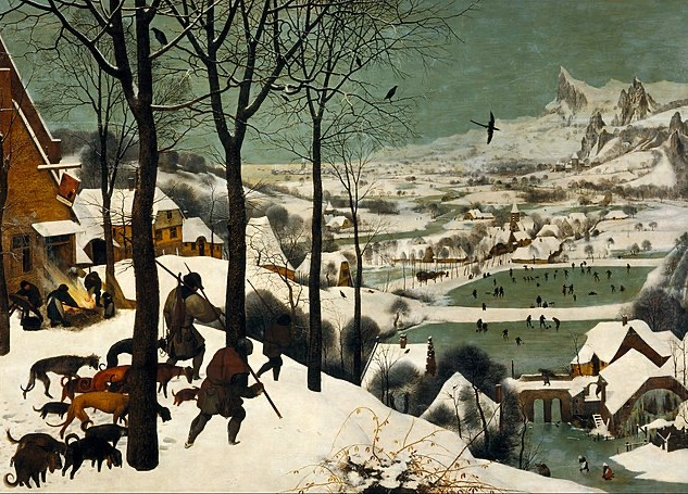 Shivering beneath the weight of winter with the Southern Netherlandish artist.