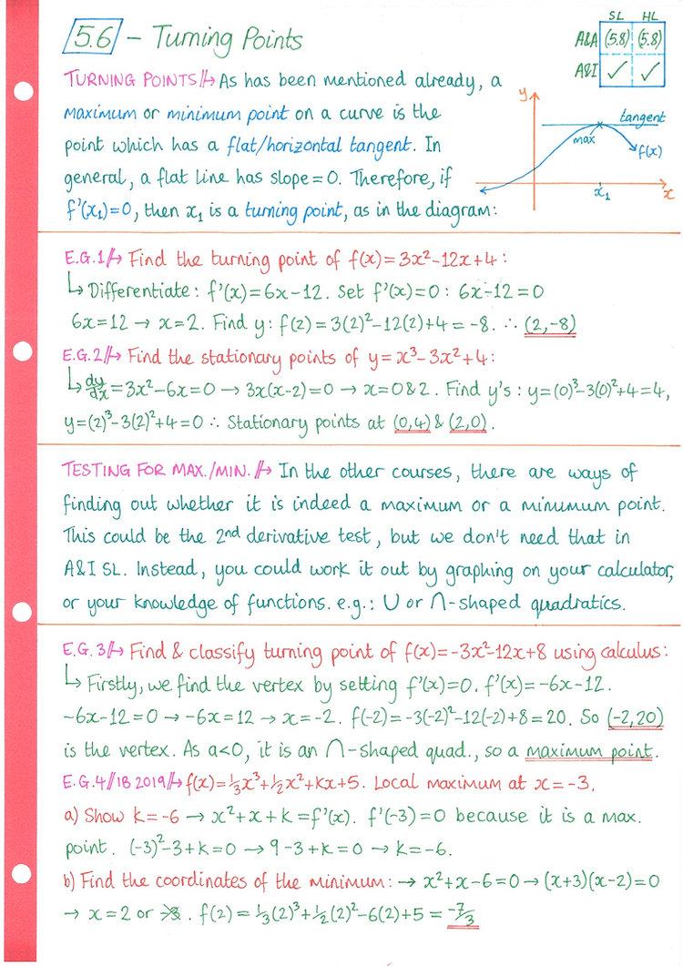 pg7 A&I SL - Topic 5 - Calculus Notes.jp