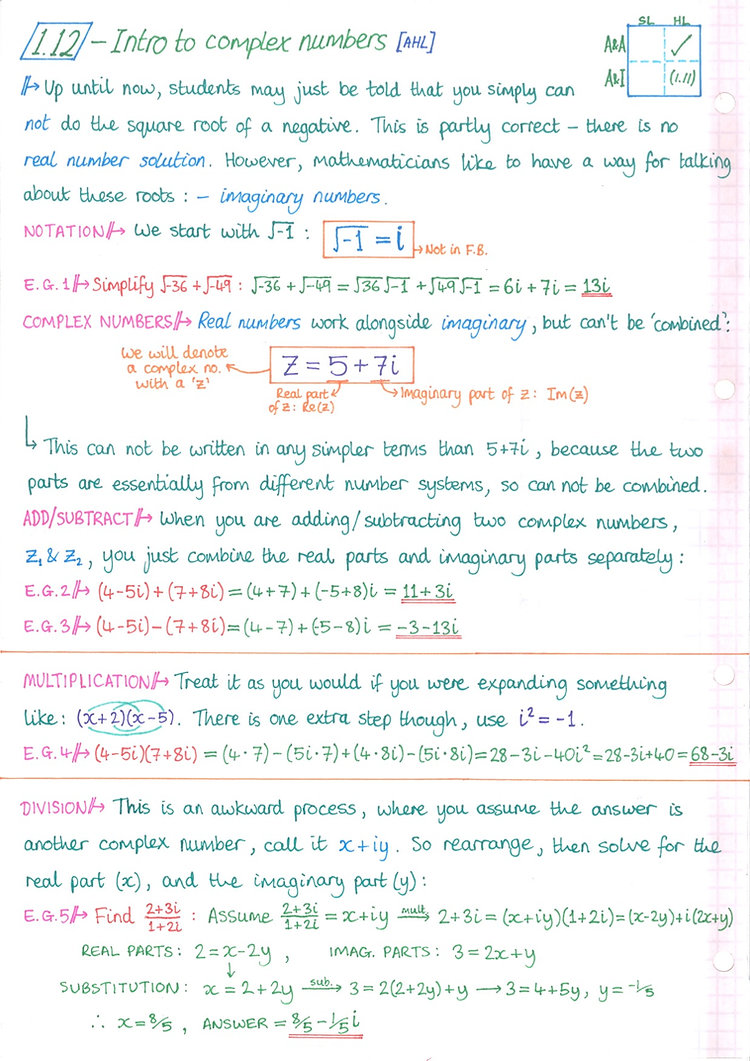 pg15 A&A HL - Topic 1 - Algebra Notes.jp