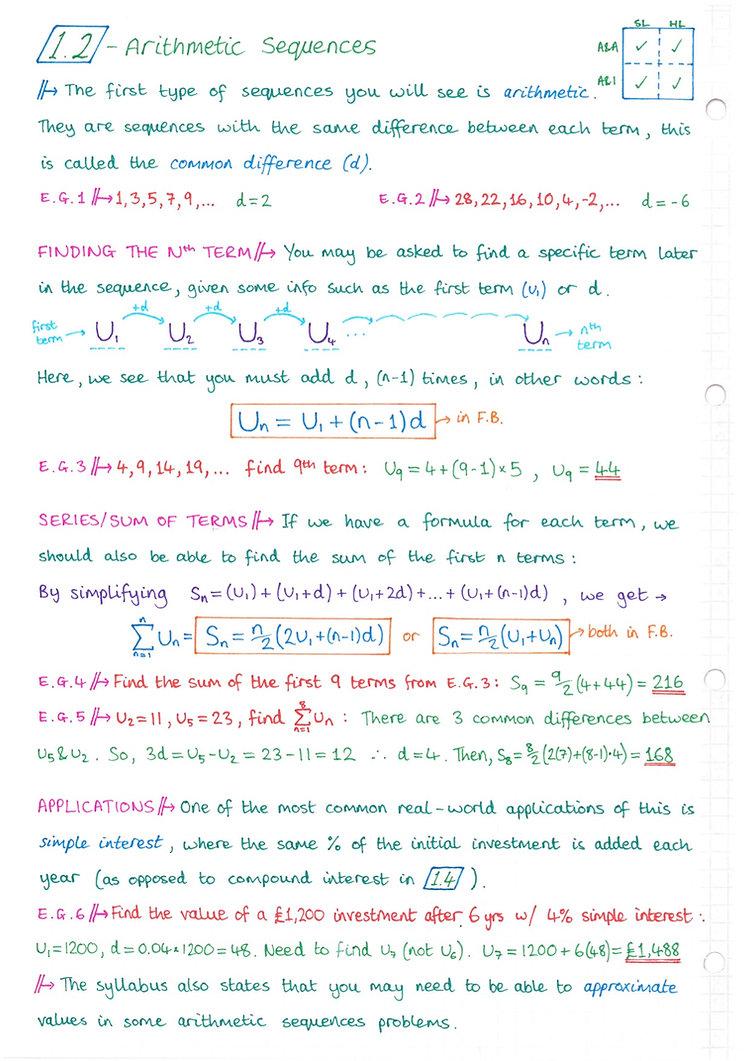 pg2 A&A HL - Topic 1 - Algebra Notes.jpg