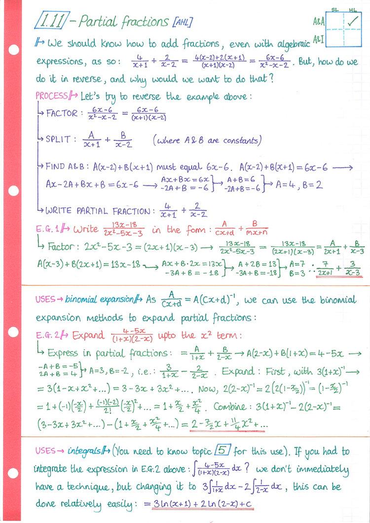 pg14 A&A HL - Topic 1 - Algebra Notes.jp